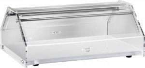 VL4748B Vetrinetta neutra 1 piano legno bianco cupula in plexiglass 50x35x21h